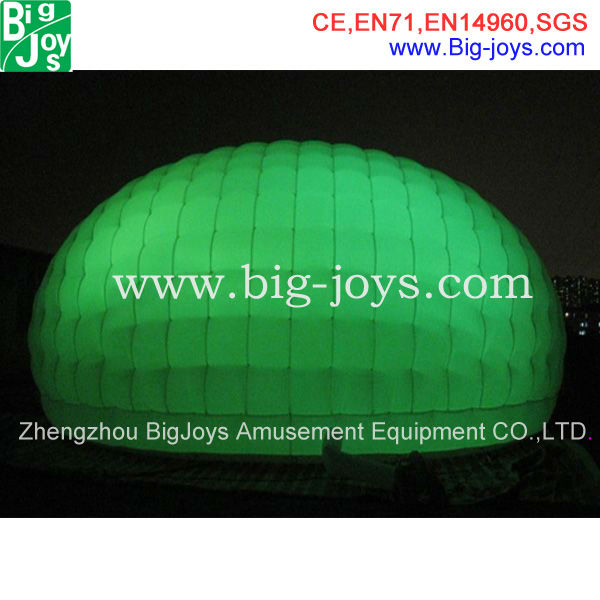 green light inflatable tent, dome inflatable tent for sale