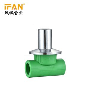 Ifan angled brass thermostatic radiator control valve