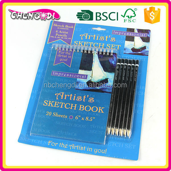 Hot Selling ningbo sketch book, sketching book wholesale, metal cover spiral notebook