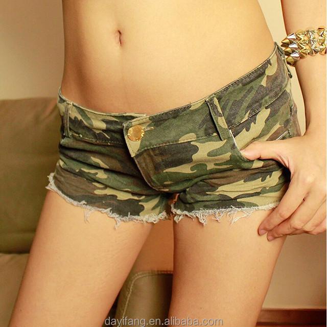 new arrival women sexy camouflage denim shorts hot pants girls mini spandex short jeans