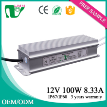 100w 12v pwm led driver for commercial indoor lighting