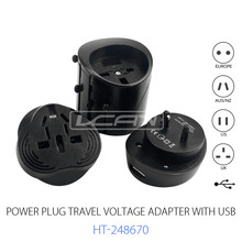 Electrical Power Plug Adapter with USB, Best World Travel Plug Adapter, Multi Plug Adaptor