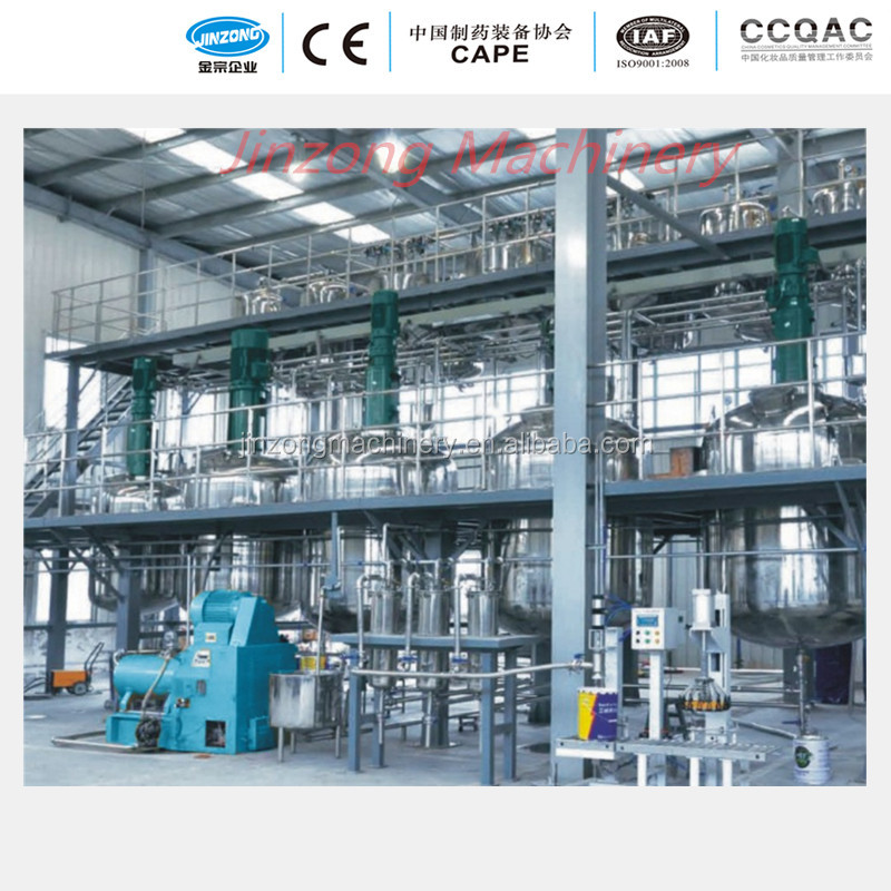 Paint processing production equipment, Stainless steel reactor, Paint mixing tank