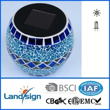 Cixi landsign color changing solar mosaic glass light with ball shape