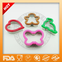 Different shape stainless steel cookie cutter with silicone grip