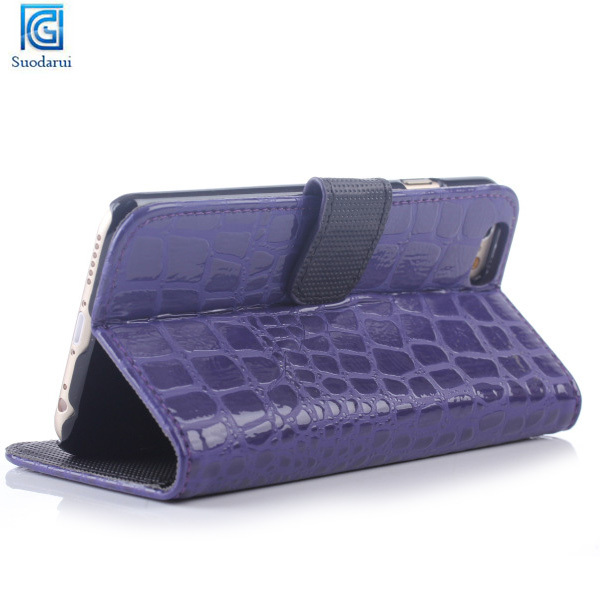 Mobile Phone Accessories Crocodile leather Flip case cover for iphone 6 plus leather Case