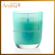 Custom religious glass jar scented aroma candles cheap for Hotel
