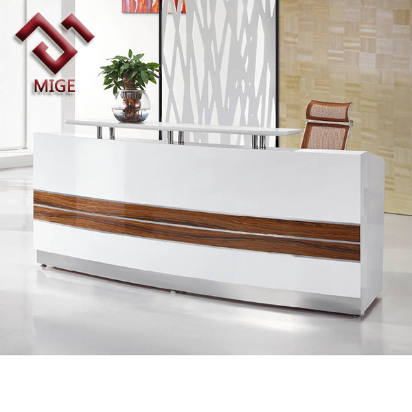 middle size high end modern white counter table, View modern white