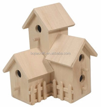 New unfinished Chinese wood craft bird houses