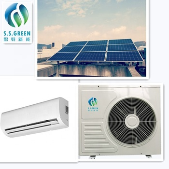 Solar Air Conditioner low Price AC/DC hybrid    split  wall mounted  9000btu  Solar powered  Air Conditioner