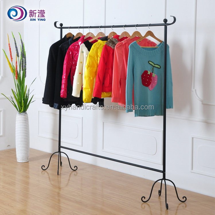 Promotional cheap price custom coat powder steel cloth rack