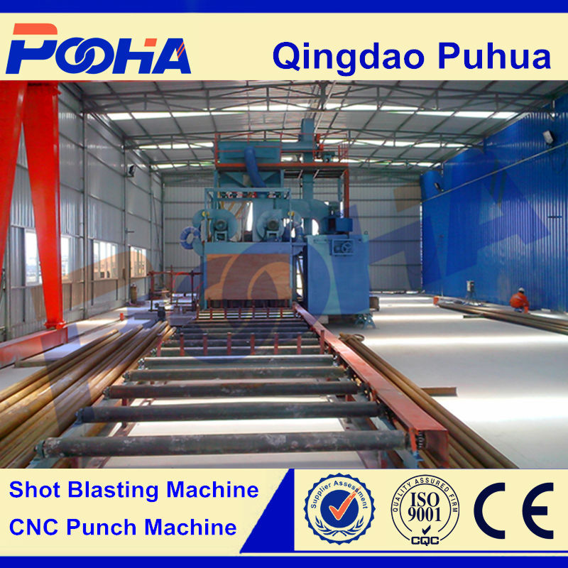 Steel Pipe Outer Wall Shot Blasting Machine for LPG Cylinder
