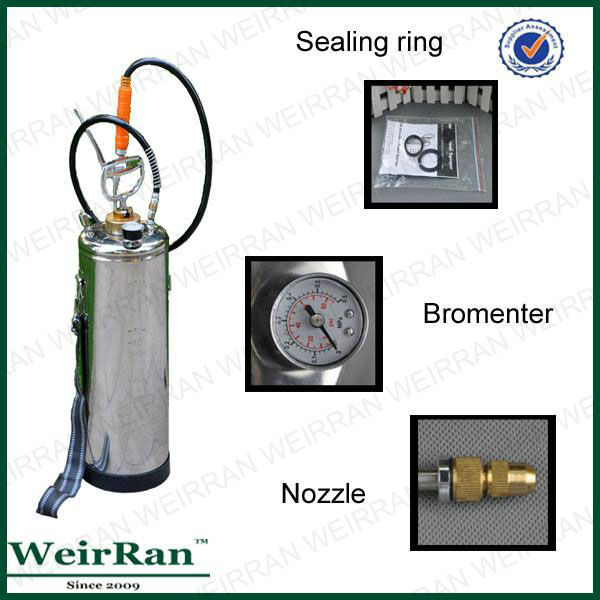 (8106) High pressure stainless steel farm sprayer with brass nozzle,power sprayer plunger pump