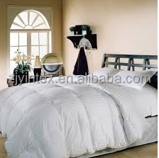 Hotel Damask Stripe White Down Comforter
