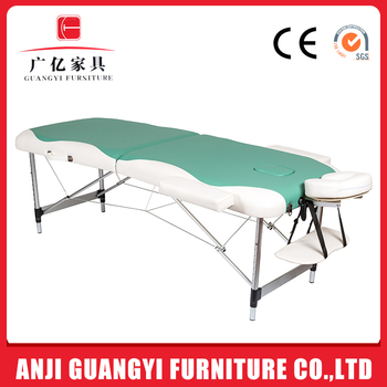 BonnieBeauty professional spa used Two Section Aluminum Excellent Quality Folding Massage Table