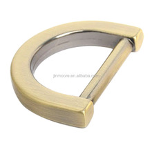MDR01 20 mm;25 mm Brushed Antique Brass Metal Modern Alloy D Ring Buckle For Bags