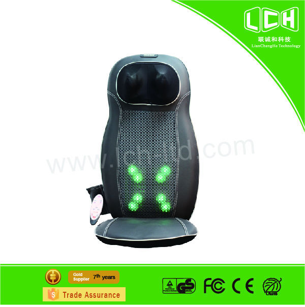 2015 Hot sale electric far infrared vibration kneading car seat massage armchair lumbar massager for office use health care