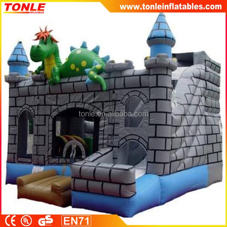 Dragon inflatable Fun City for kids, Indoor Inflatable Playground for sale, Mini Inflatable Jumping house