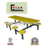 2013 hot sale extendable dining table set/ fiberglass tables and chairs for restaurant furniture/fast food chairs tables