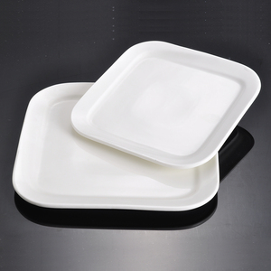 10 inch White Color Square Chinese Ceramic Porcelain Plates