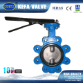 lever operated lug type butterfly valve with soft seat