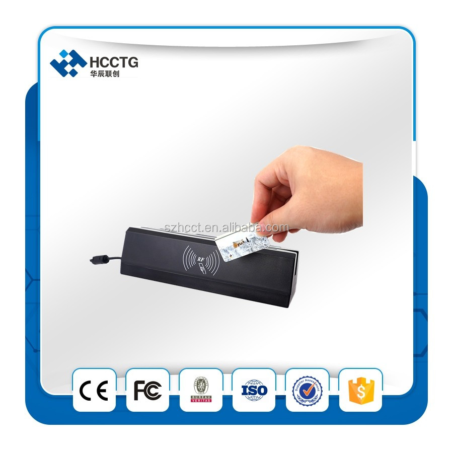 4 IN 1 nfc +chip+RFID+PASM +credit card reader/writer software with MSR reader&Writer for access control --HCC80