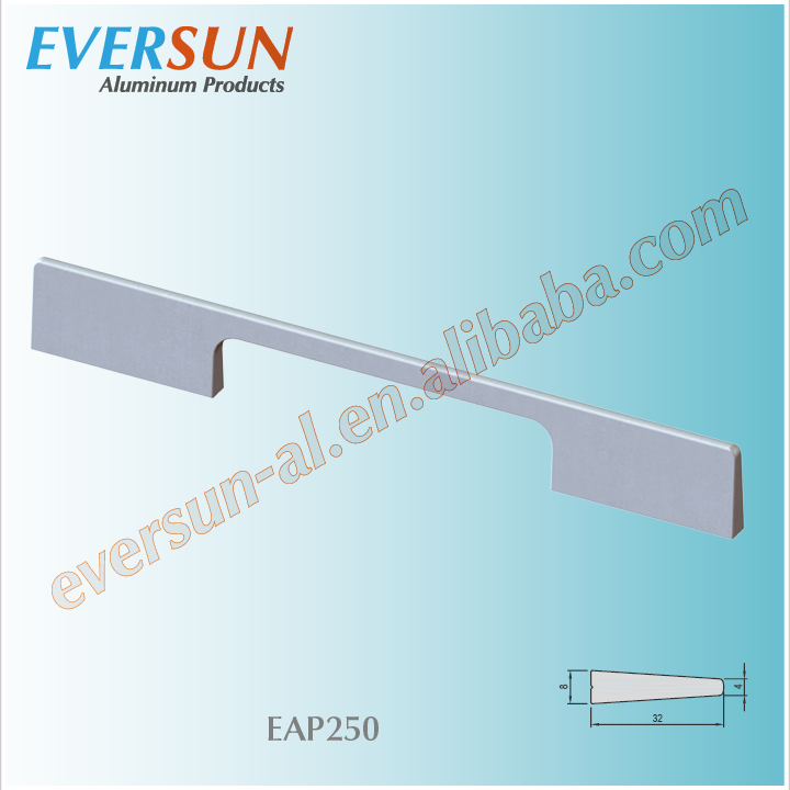 Wall mounted application handle for furniture alloy