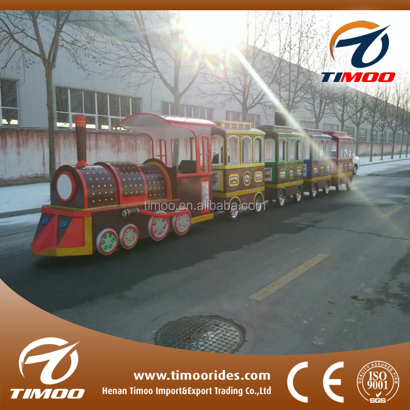 Shopping center electric trains trackless tourist train for sale