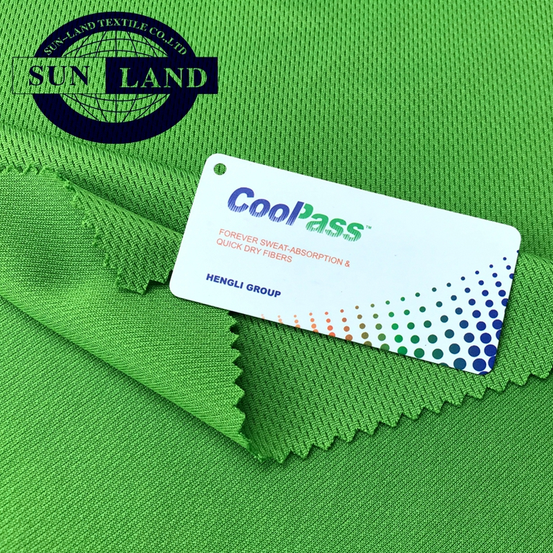 100% polyester dry fit coolpass knitted mesh fabric for sportswear cycling jersey