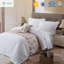 apartment use promotion Home & Garden in Super March Purchasing poly cotton hotel stripes satin bedding sets linen 250TC