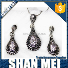 charm antique earrings necklace set alloy jewelry set yiwu wholesale