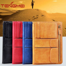 Multifunction stand leather cover folding folio for iPad Air case