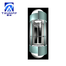 Passenger lift used Observation elevator with luxury hotel