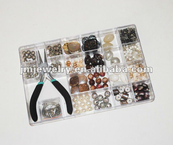 Ocean design shell jewelry making kit for adult