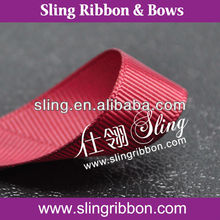 Hot Sale Sherry Solid Print Drosgrain Gift Packing Ribbon