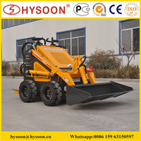 Small electric skid steer loader for garden