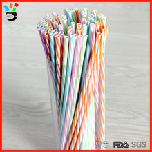 FDA Testing Passed Eco-Friendly Green Material Made Dichromatic Plastic Drinking Straw