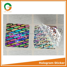 custom anti counterfeiting 3d hologram for tickets