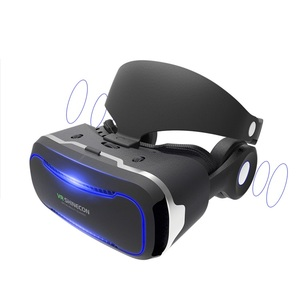 Factory price Free sample and dropshipping VR 3d Glasses blue film hot video google vr headsets