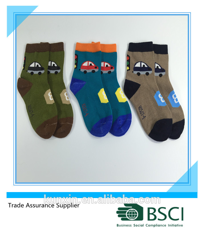K&X-Passed ISO 9001 test newest pattern cotton baby cute boy tube socks