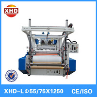 Double-screw design double layer stretch film making machine