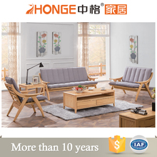 grey fabric modern lobby design 5 seater living room wooden sofa sets