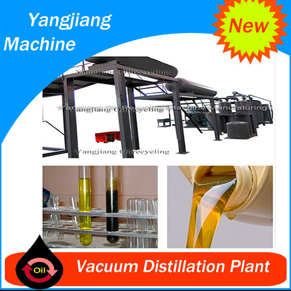Vacuum Distillation Waste Oil Recover Machine for Used lube Car Oil