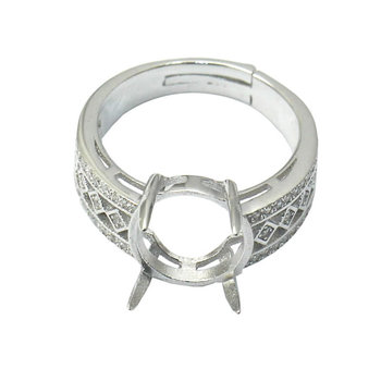 Beadsnice ID30723 925 steriling silver ring sets removable US ring size 7 to 9 fit 10.5x10mm oval sold by PC finger ring blank