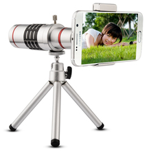 18x Optical Telescope Telephoto Lens with Tripod Universal Mobile Phone Lens New