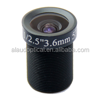 AB03618MGC Fixed Iris 5MP 3.6mm cctv camera lens for surveillance application with ir cut filter