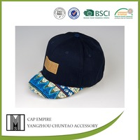 BSCI Audit boys black design navy printed cotton fitted baseball cap