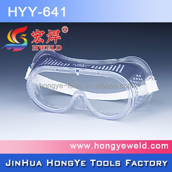 tac anti-fog/safety dust goggles with PVC