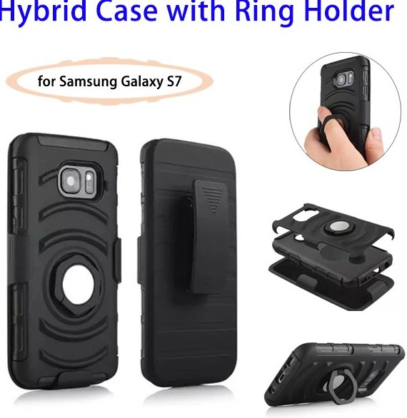 Best Seller Hybrid Case for Samsung Galaxy S7 Rugged Case, 3 in 1 for Samsung S7 Phone Cover
