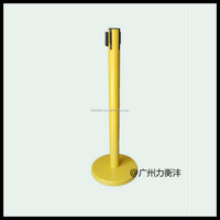 Yellow Colorful Durable Retractable Belt Barrier made by stainless steels good price
